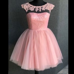 NWT Sherri Hill Prom Dress - Blush